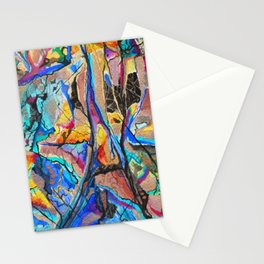 Blue Mineral Peridotite Stationery Cards