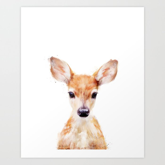Little Deer Art Print By Amyhamilton Society6