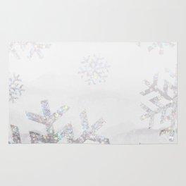 Snowflake Glitter Rug