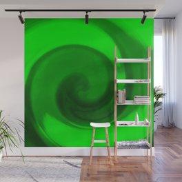 Green tie dye Wall Mural