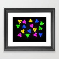 Scribbled Hearts Framed Art Print