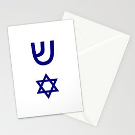 design from a mezuzah 2 Stationery Cards