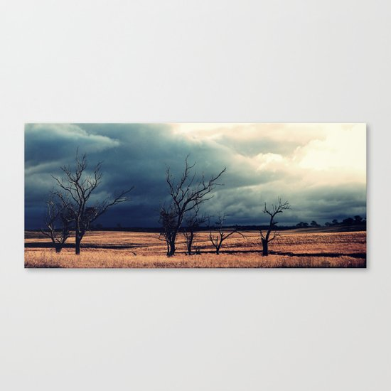 The relief of an Aussie drover Canvas Print