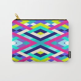 Smart Diagonals Pink Carry-All Pouch