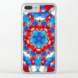 Japanese Breeze Kaleidoscope Clear iPhone Case