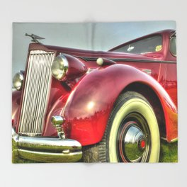 Packard Type 138 Vintage Saloon Car Throw Blanket