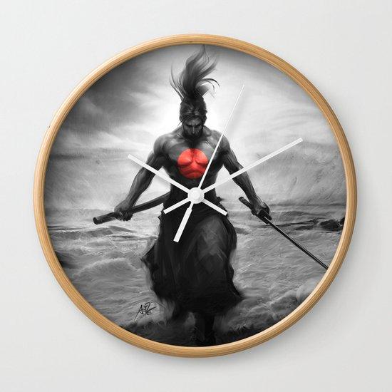 Courage of Samurai Wall Clock
