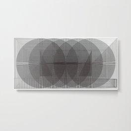 The Conversation Behind Doors Metal Print