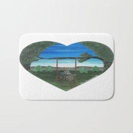 Sunset Sweethearts - Scotties - Scottish Terriers Bath Mat