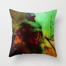Soul in the purgatory Throw Pillow