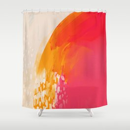 The Bright Abstract Waterfall Shower Curtain