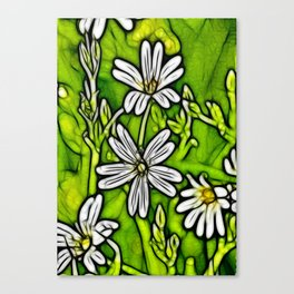 Fractal Stitchwort Canvas Print