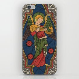 Stained Glass Angel from Temple Church London 1400 iPhone Skin
