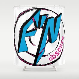 Fn Obscure Logo Shower Curtain