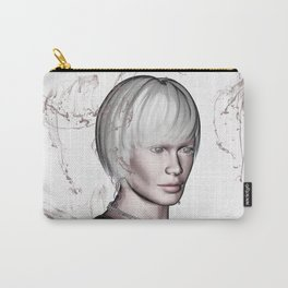 Portrait in Beige Carry-All Pouch