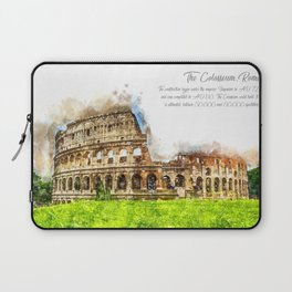 Colloseum, Rome, Aquarell Laptop Sleeve