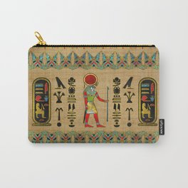 Egyptian Re-Horakhty  - Ra-Horakht  Ornament on papyrus Carry-All Pouch