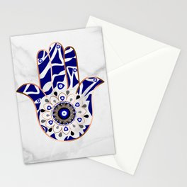 Talk to the Evil Eye Hamsa Hand Stationery Cards