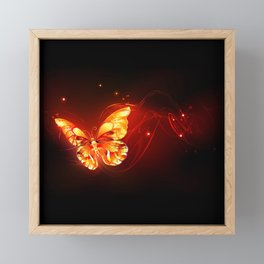 Flying Fire Butterfly Framed Mini Art Print