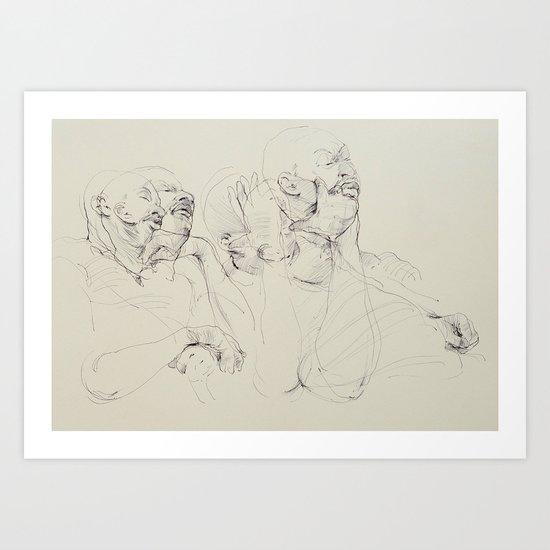 Dozing Off Art Print