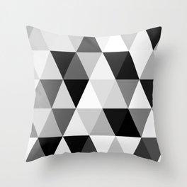 rombi black white Throw Pillow