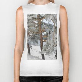 """""""Ghost Forest II"""". Yesterday after the snowstorm Biker Tank"""