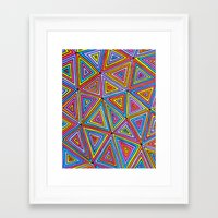 triangle Framed Art Prints featuring Triangle by Neon Wonderland