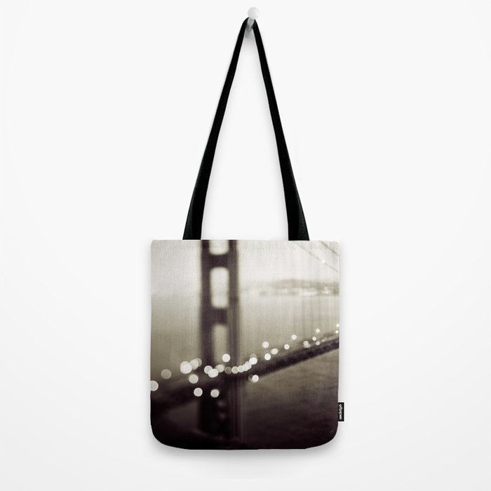 Meet Me In San Francisco (Black and White Edition)  Tote Bag