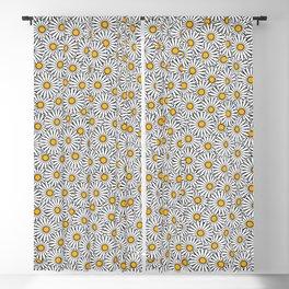 Daisy flowers print (11-2-19) Blackout Curtain