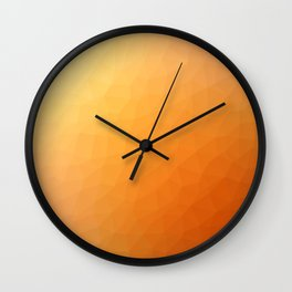 Orange flakes. Copos naranja. Flocons d'orange. Orangenflocken. Оранжевые хлопья. Wall Clock