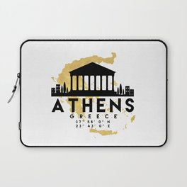 ATHENS GREECE SILHOUETTE SKYLINE MAP ART Laptop Sleeve