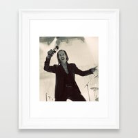 nick cave Framed Art Prints featuring Nick Cave by Ferdinand Bardamu