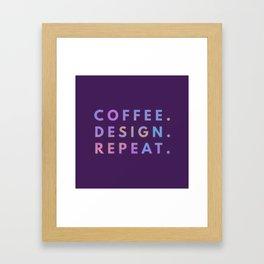 Coffee Design Repeat Framed Art Print