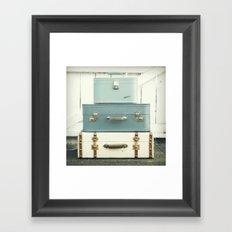 Journey in Blue Framed Art Print