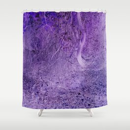 Season of the Land - Purple Storm Shower Curtain