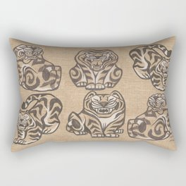 Stone Tigers Rectangular Pillow