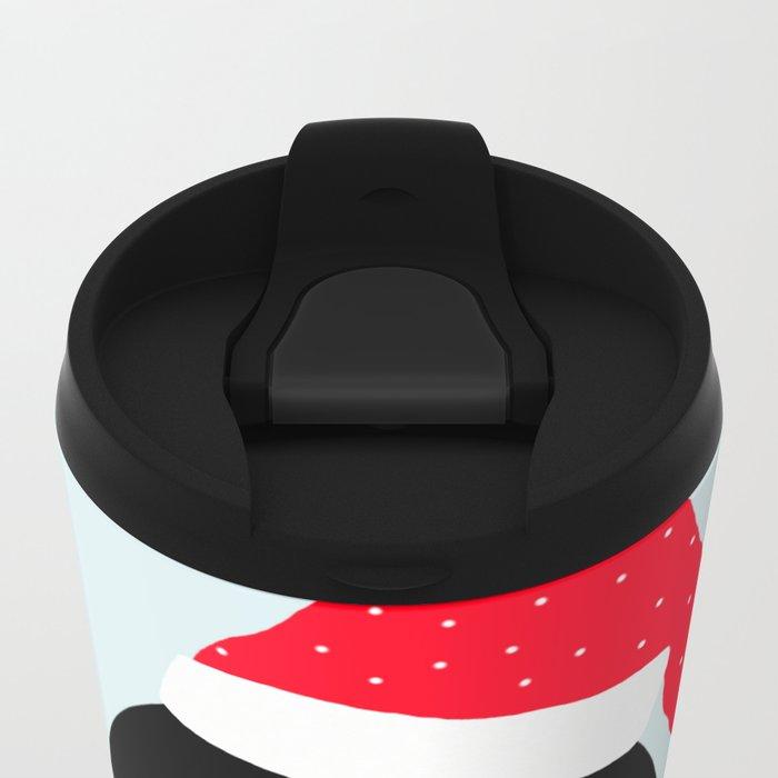 Christmas Penguin Metal Travel Mug