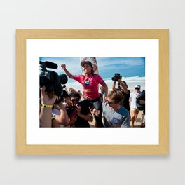 Sally Fitzgibbons Surf, Hossegor- France - 2013 Framed Art Print