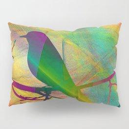 ap070 Bird on branch Pillow Sham