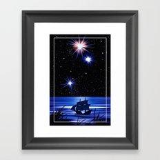Sky, stars and the sea. Framed Art Print