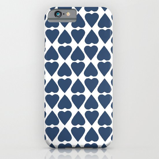 Diamond Hearts Repeat Navy iPhone & iPod Case