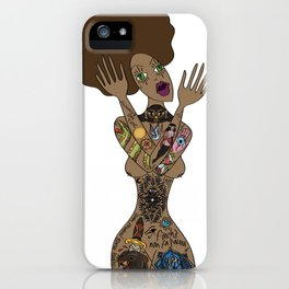 ink my hole body iPhone Case