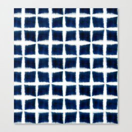 Shibori Blocks Canvas Print