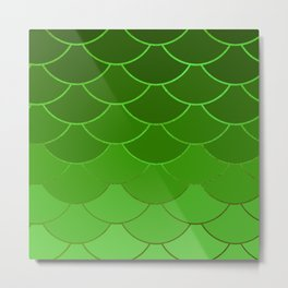 Green Scales Metal Print