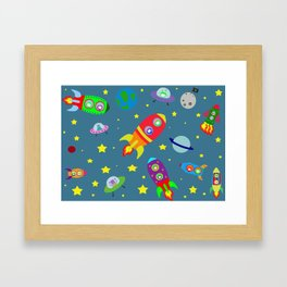 Rockets to the moon Framed Art Print