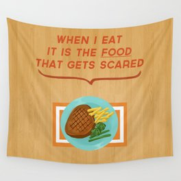 Scary Food Wall Tapestry