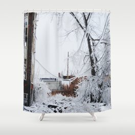 Frozen by Fire Shower Curtain