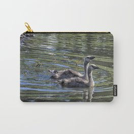 Two Goslings Taking a Swim, No. 2 Carry-All Pouch