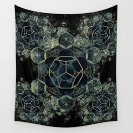 Sacred Geometry for your daily life -  Platonic Solids - ETHER Wall Tapestry