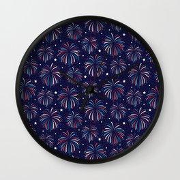Star Spangled Night Wall Clock